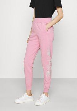 KARL LAGERFELD - RHINESTONE LOGO PANTS - Jogginghose - pink