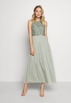 Maya Deluxe - OVERLAY DELICATE SEQUIN DRESS - Cocktailkleid/festliches Kleid - green