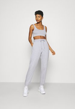 Missguided - SCOOP NECK BRALET 90'S SET - Jogginghose - grey