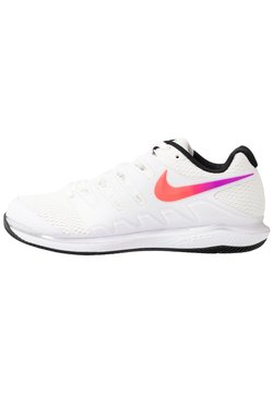 Nike Performance - NIKECOURT AIR ZOOM VAPOR X - Scarpe da tennis per tutte le superfici - summit white/white/black/electro green