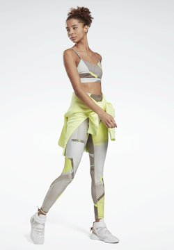 Reebok - LUX BOLD HIGH-RISE LEGGINGS - Tights - yellow