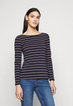 Anna Field Tall - T-shirt à manches longues - dark blue/camel