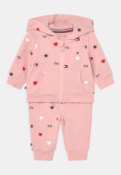 Tommy Hilfiger - BABY FLAG HOODED SET UNISEX - Chándal - pink