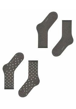 Esprit - DOT 2-PACK - Socken - anthra mel