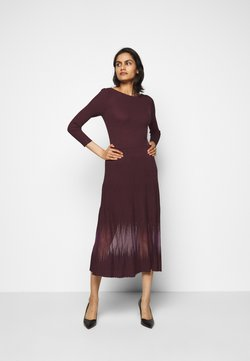 Patrizia Pepe - DRESS SEE THROUGH - Strickkleid - violet swan