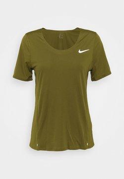 Nike Performance - CITY SLEEK - Camiseta estampada - olive flak
