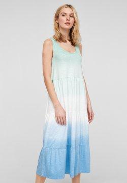 s.Oliver - Jerseykleid - turquoise tie dye