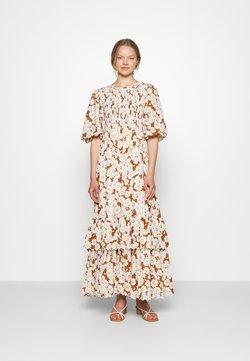 byTiMo - DOBBY MAXI DRESS - Maxikleid - brown