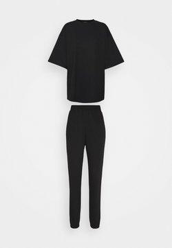 Missguided Tall - JOGGER SET - Jogginghose - black