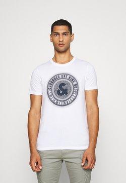 Jack & Jones - JCOLOGO-UNIVERSE TEE CREW NECK - Print T-shirt - white