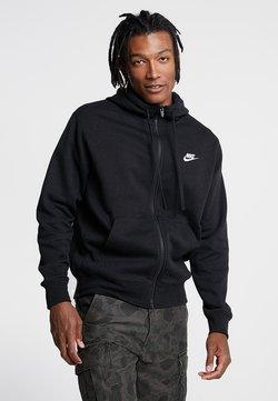 Nike Sportswear - CLUB HOODIE - Sweatjacke - black/black/white