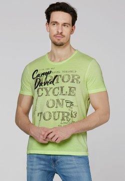 Camp David - MIT VINTAGE- UND PUFF-PRINT - T-Shirt print - neon lime