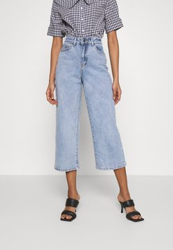 Object - OBJMARINA - Jeans baggy - light blue denim