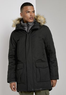 TOM TAILOR DENIM - Wintermantel - black