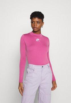 Nike Sportswear - AIR MOCK - Langarmshirt - purple smoke/fireberry/white