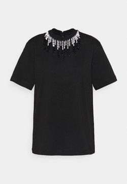 Christopher Kane - BEADED - T-shirt z nadrukiem - black