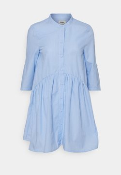 ONLY Petite - ONLCHICAGO LIFESTRIPE DRESS - Blusenkleid - white/blue