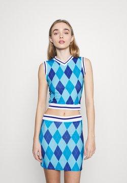NEW girl ORDER - ARGYL TANK - Top - blue