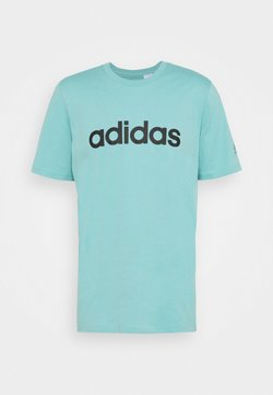 adidas Performance - T-shirt z nadrukiem - mint ton/black