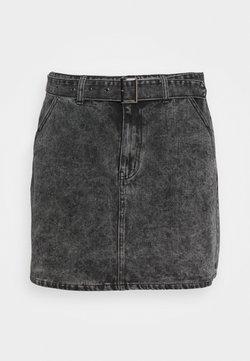 Glamorous Curve - MINI SKIRT WITH BELT - Minirock - black