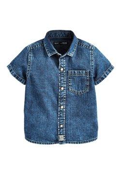 Next - BLUE SHORT SLEEVE DENIM SHIRT (3MTHS-7YRS) - Camisa - blue