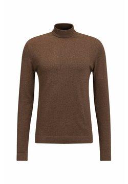 WE Fashion - MET OPSTAANDE BOORD - Strickpullover - light brown