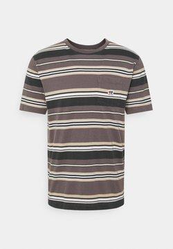 Brixton - HILT ALTON - T-Shirt print - washed black/cloud