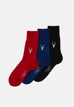 FALKE - 3 PACK - Socken - dark blue/bordeaux