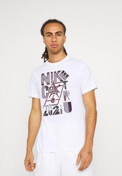 Nike Performance - TEE CLAY - T-Shirt print - white
