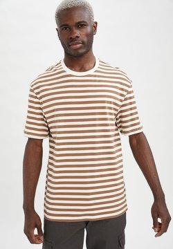 DeFacto - T-Shirt print - brown