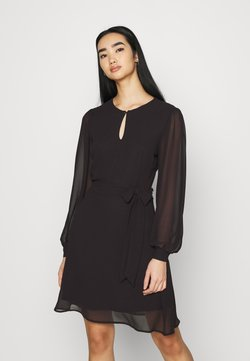 NU-IN - BALOON SLEEVE MINI DRESS - Sukienka koktajlowa - black