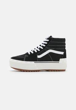 Vans - SK8 STACKED - Korkeavartiset tennarit - black/blanc de blanc