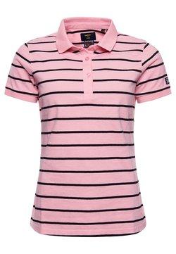 Superdry - Poloshirt - varisty imperial pink stripe