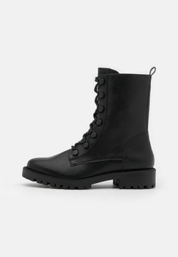 Esprit - BRISTOL HI BOOT - Nauhalliset nilkkurit - black