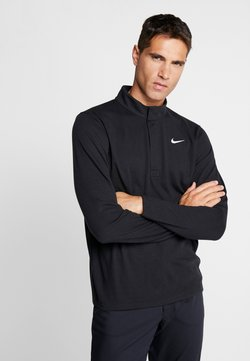 Nike Golf - NIKE DRI-FIT VICTORY HERREN-GOLFOBERTEIL MIT HALBREISSVERSCHLUSS - Sportshirt - black/black/white