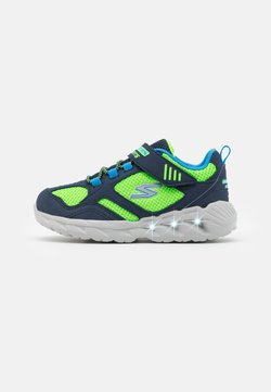Skechers - MAGNA LIGHTS - Sneaker low - navy/lime