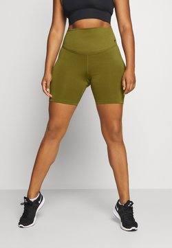 Nike Performance - ONE SHORT PLUS - Tights - olive flak/white