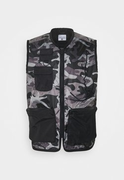 Karl Kani - SIGNATURE UTILITY VEST - Waistcoat - black