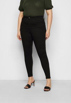 Levi's® Plus - 720 HIRISE SUPER SKINNY - Jeans Skinny Fit - black galaxy