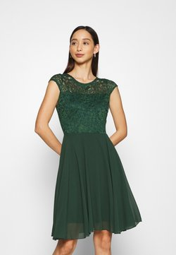 WAL G. - PEYTON SKATER DRESS - Cocktailkjoler / festkjoler - forest green