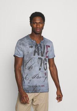 Key Largo - OUTCOME BUTTON - T-shirt print - steel blue