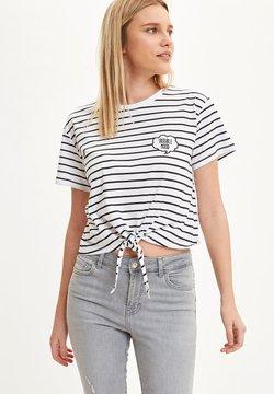 DeFacto - T-Shirt print - white