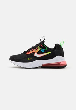 Nike Sportswear - AIR MAX 270 REACT - Sneakersy niskie - black/white/green strike/flash crimson/blue fury