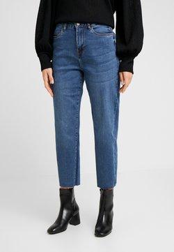 Noisy May Petite - SLIM STRGHT - Straight leg jeans - medium blue denim
