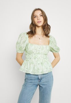 Forever New - RUCHED WAIST DETAIL BLOUSE - Bluse - evergreen paisley