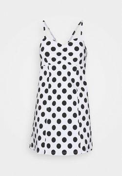 Miss Selfridge Petite - SPOT BENGA DRESS - Freizeitkleid - white