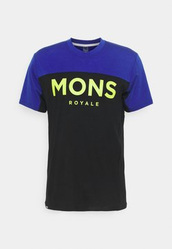 Mons Royale - REDWOOD ENDURO - T-Shirt print - ultra blue/black