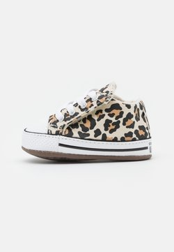 Converse - CHUCK TAYLOR ALL STAR CRIBSTER ARCHIVE ANIMAL PRINT UNISEX - Krabbelschuh - natural ivory/doe/black