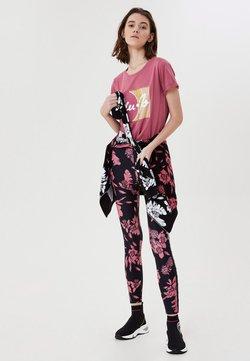 LIU JO - Leggings - Hosen - black/pink
