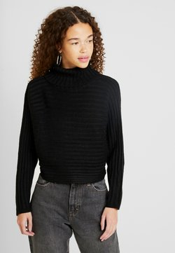 New Look Petite - CROPPED ROLL NECK - Strickpullover - black